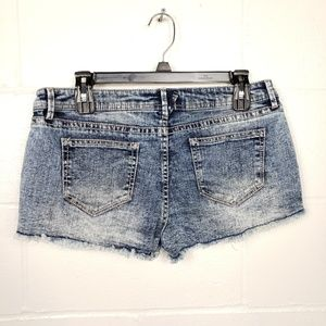 Frosted Denim Booty Jean Shorts
